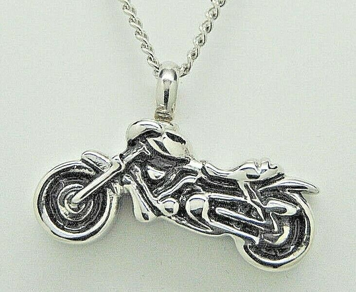 motorcycle urn necklace biker cremation jewelry memorial