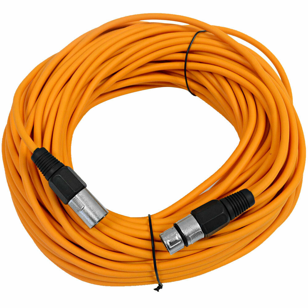 Seismic Audio Orange 100 Xlr Microphone Cable Mic Cord Ebay