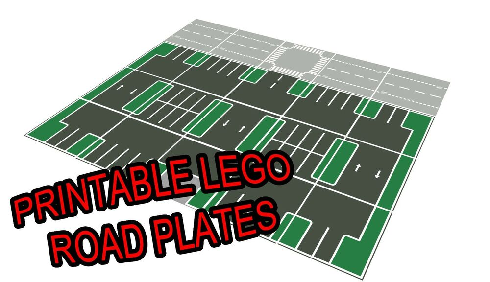 Lego 11 Quot X17 Quot Printable Road Plate Parking Lot Dark Gray