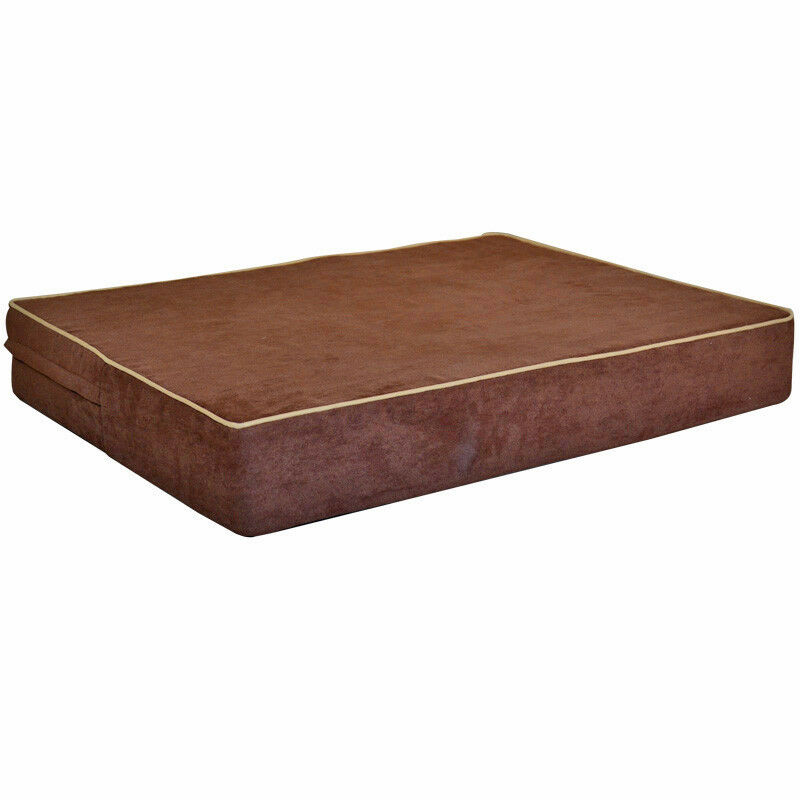 Best orthopedic memory foam pet dog bed durable suede for Best durable dog bed