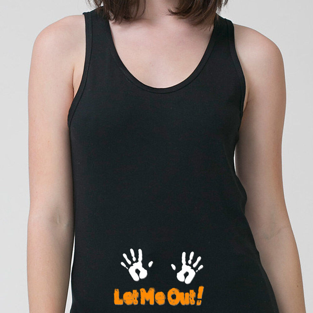 Let Me Out Maternity Baby Funny T Shirt Pregnant