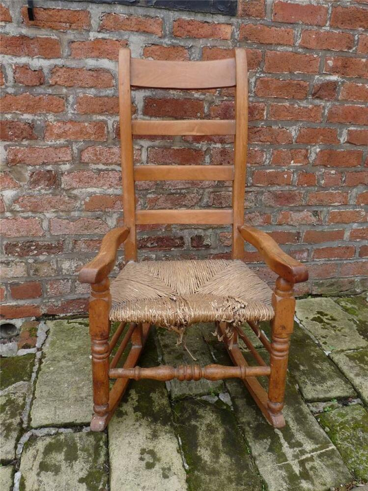 A Sweet Amp Pretty Antique Victorian Ladder Back Rocking