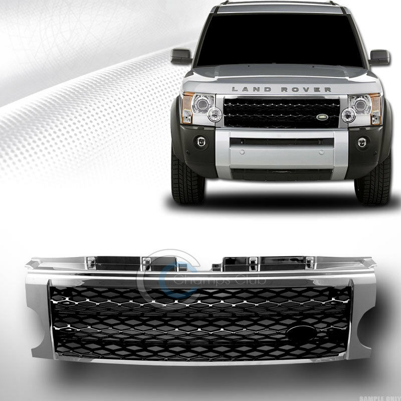 chrome black mesh front bumper grill grille 2005 2009 land. Black Bedroom Furniture Sets. Home Design Ideas