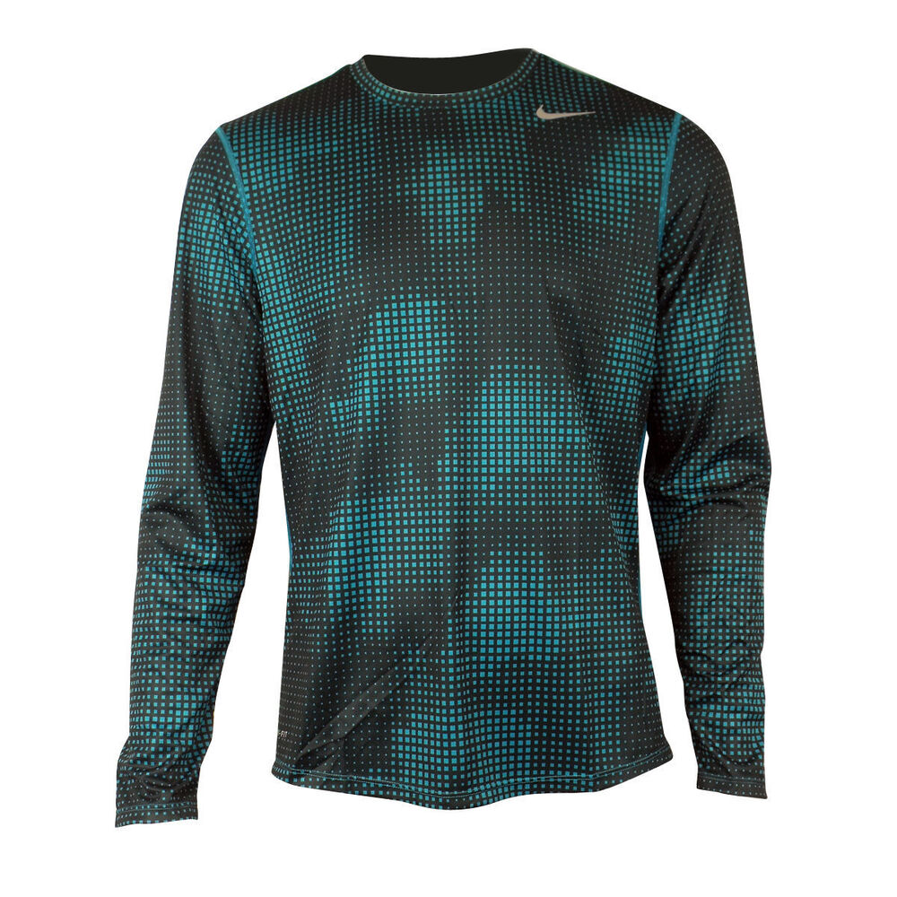 Mens nike dry dri fit sublimated running shirt training for Best athletic dress shirts