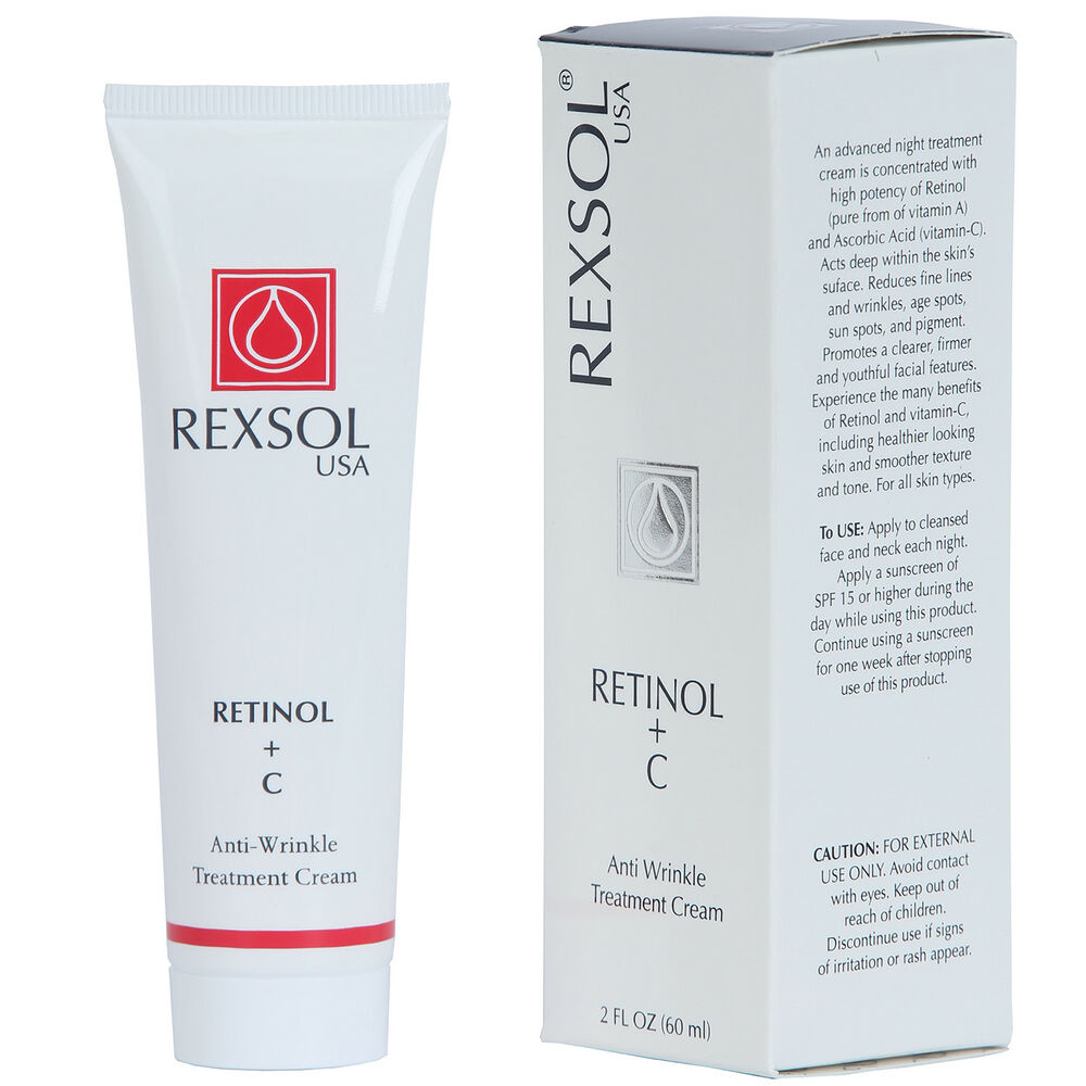 rexsol retinol c anti wrinkle treatment cream ebay. Black Bedroom Furniture Sets. Home Design Ideas