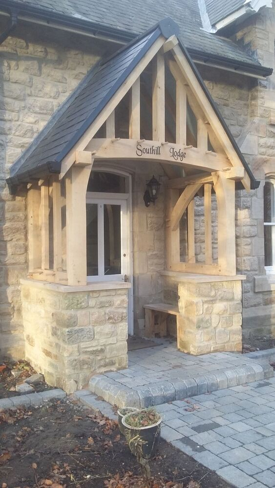Oak Porch Doorway Wooden Porch Canopy Entrance Self