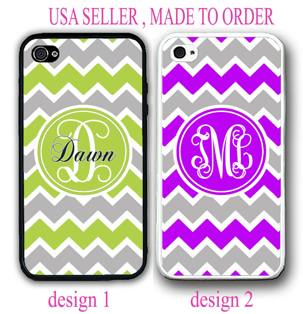 iPhone personalized cell phone cases for iphone 4 PERSONALIZED LIME GREEN PURPLE GREY CHEVRON MONOGRAM CASE FOR IPHONE 6 ...