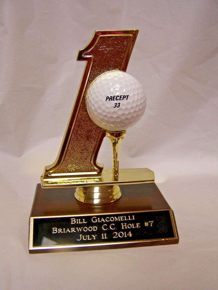 Golf hole in one trophy ball holder free engraving ebay