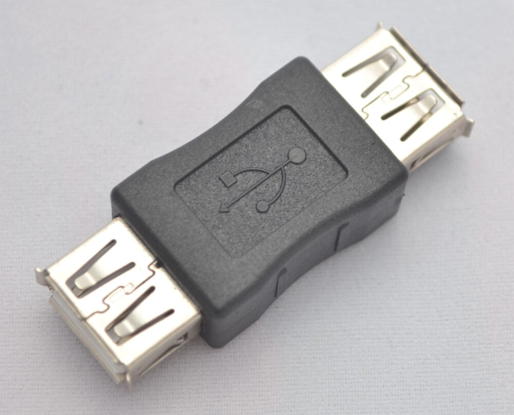 usb 2 0 plug a female to female coupler cord adapter for. Black Bedroom Furniture Sets. Home Design Ideas