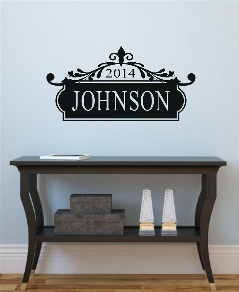 Custom Name Plaque Vinyl Decal Wall Decor Stickers Letters