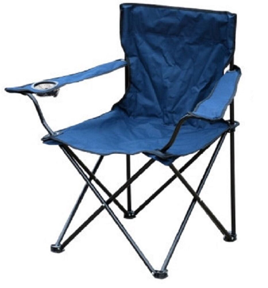 New folding blue outdoor camping chair fishing foldable for Garden furniture chairs