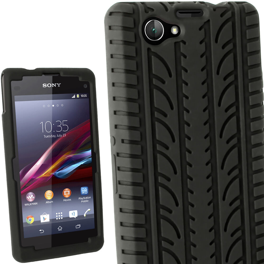 black tyre silicone gel skin case for sony xperia z1. Black Bedroom Furniture Sets. Home Design Ideas
