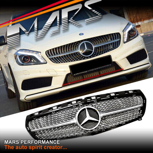 diamond star a250 style front grille grill for mercedes. Black Bedroom Furniture Sets. Home Design Ideas