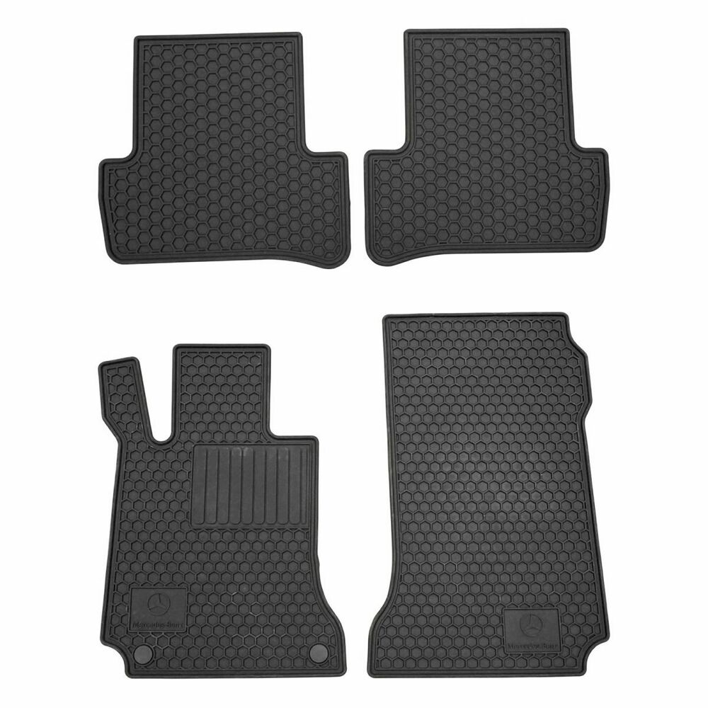 Mercedes Benz Q6680665 Floor Mats Black Rubber Set Of 4