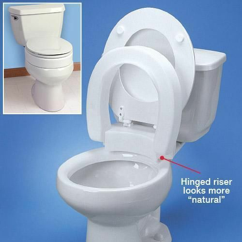 Standard Hinged Elevated Toilet Seat Quot Round Toilet Quot Ebay