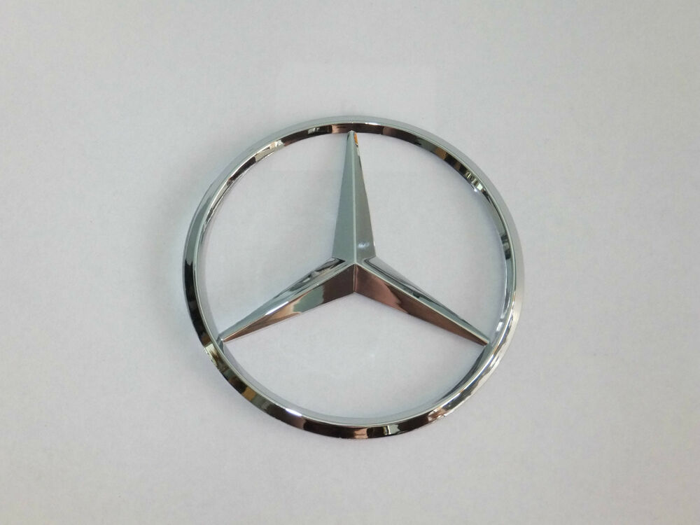 Mercedes benz 75mm chrome rear boot badge emblem adhesive for Mercedes benz badges
