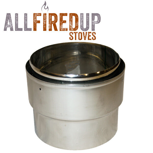 Stove Flue Liner Adapter For Rigid Flue Pipe To Flexible