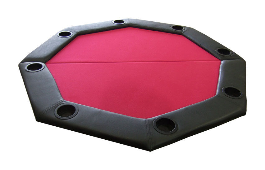 Top Table Cup Holders : Pro style padded octagon folding poker table top w cup