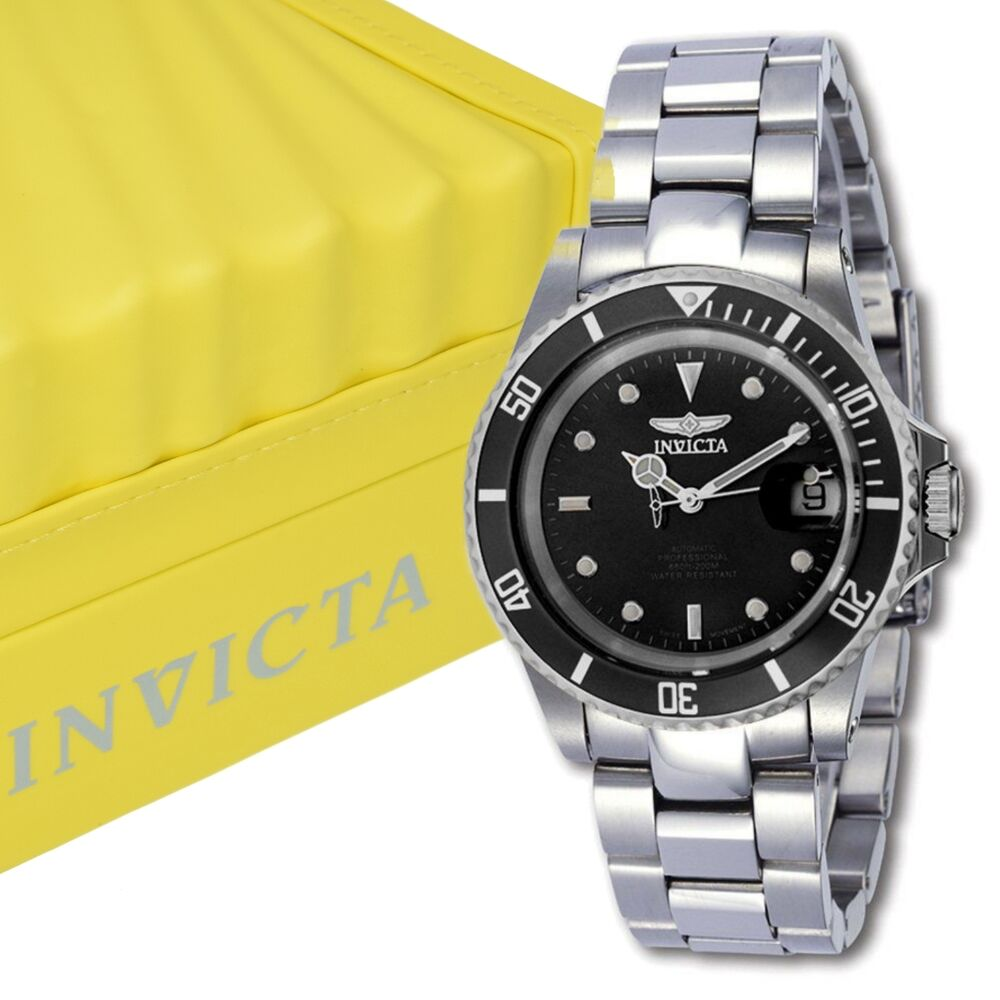 Invicta 8926ob mens pro diver coin edge automatic movement stainless steel watch ebay for Auto movement watches