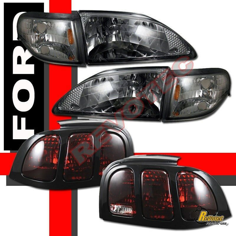 96 97 98 ford mustang smoke headlights corner signal tail lights. Black Bedroom Furniture Sets. Home Design Ideas