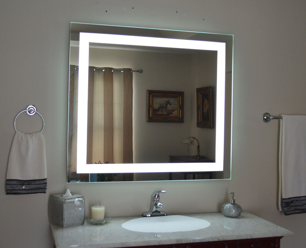 Lighted vanity mirror, led lighted, wall mounted MAM84036 ...