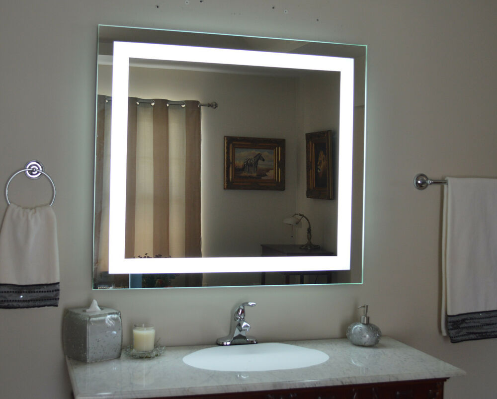 Lighted Bathroom Vanity Mirror Led Wall Mounted 48 Wide X 36