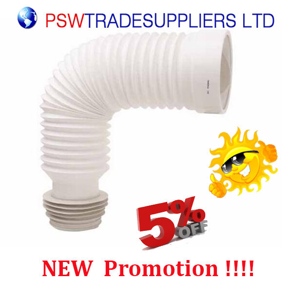 toilet wc waste flexi pan connector for standard 4 quot pipe ebay