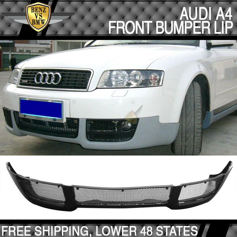 02 03 04 Audi A4 B6 V-Style Front Bumper Lip Spoiler Poly