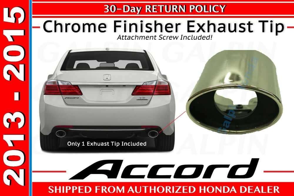 08 12 Genuine Oem Honda Accord Finisher Exhaust Tip 18310
