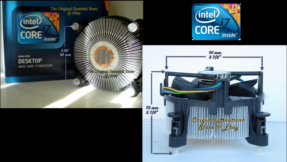 intel core i7 heatsink cpu cooler fan for i7 950 ghz socket lga1366 new ebay. Black Bedroom Furniture Sets. Home Design Ideas