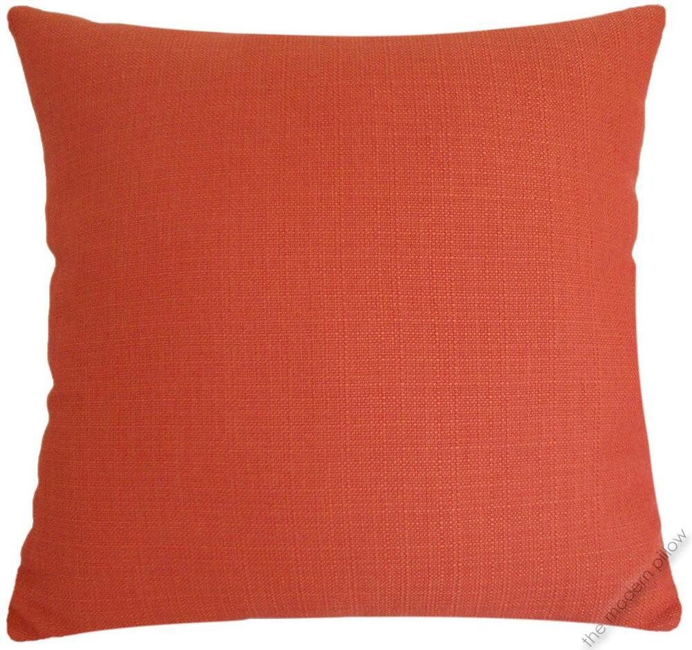 Orange Solid Metro Linen decorative throw pillow cover/case/cushion cover 20x20