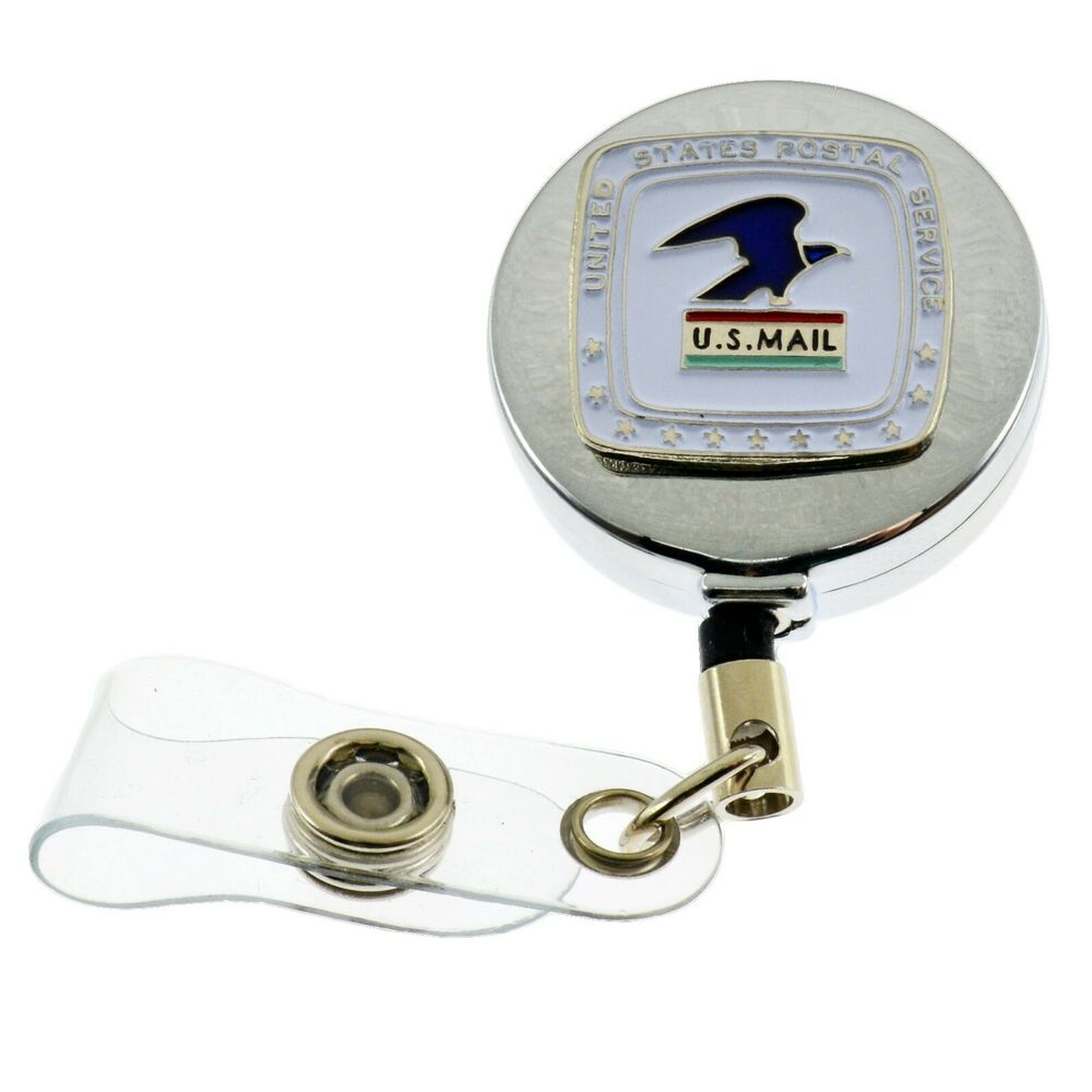 Post Service: US Postal Service Mail Retractable ID Card Holder Badge