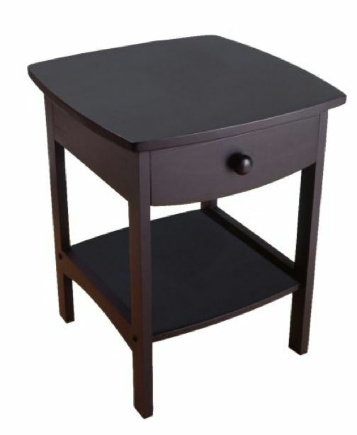 New black end table night stand wood bedroom furniture