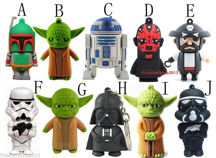 cartoon star wars usb 2 0 memory stick flash pen drive 4gb. Black Bedroom Furniture Sets. Home Design Ideas