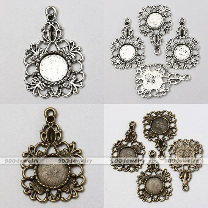 10x tibetan silver butterfly flower photo picture frame