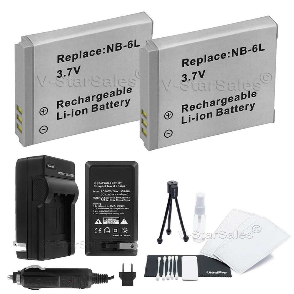 2x Nb 6l Nb 6lh Battery Charger For Canon Powershot