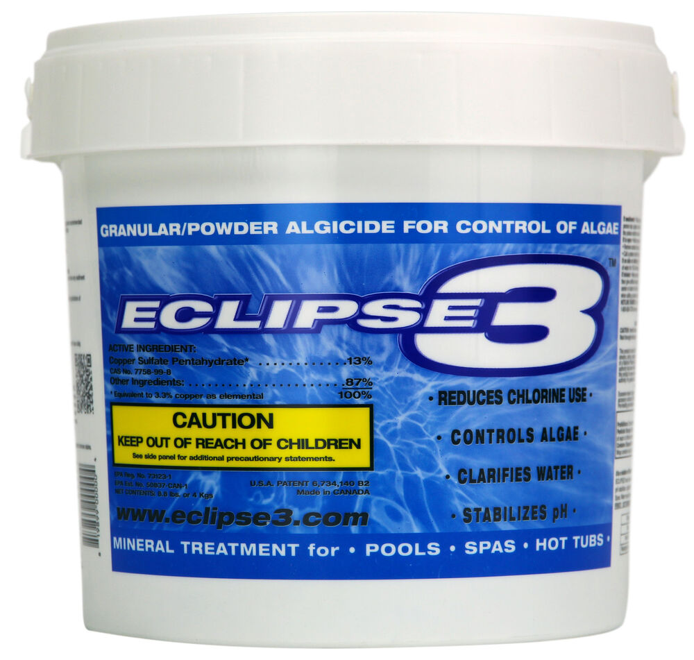 Eclipse3 swimming pool algaecide chemical control system 8 for Pond chemicals