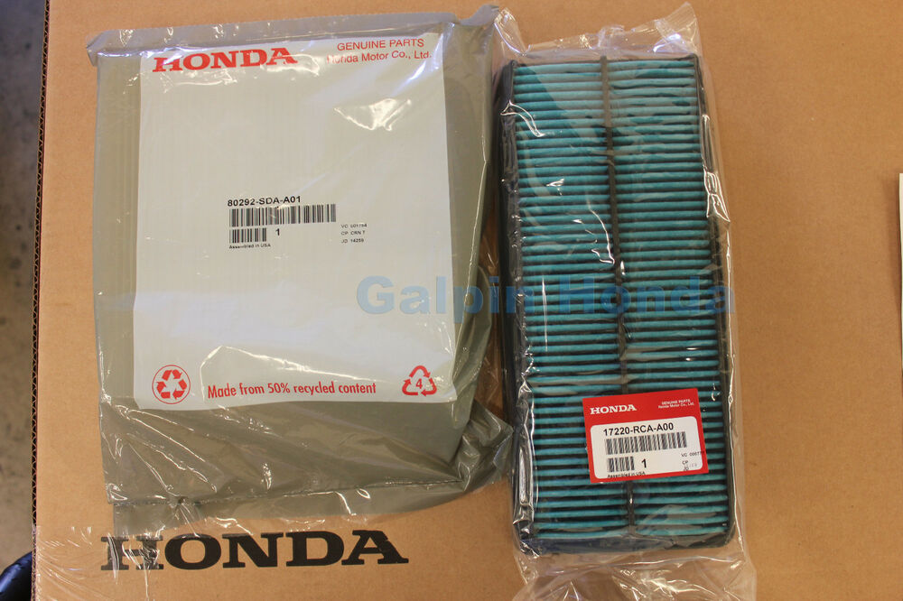 Genuine Oem Honda Accord V6 Engine Air  U0026 Cabin Filter 2003