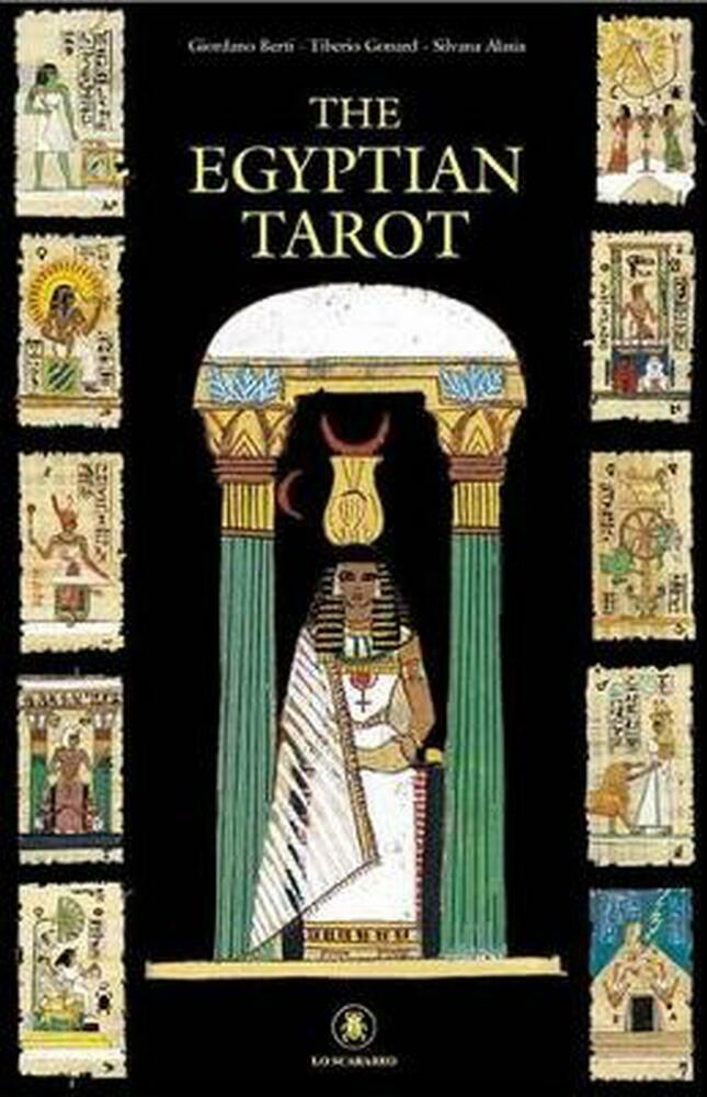 Egyptian Tarot Kit Deck Book Loscar: The Egyptian Tarot Cards Kit By S. Alasia Hardcover Book