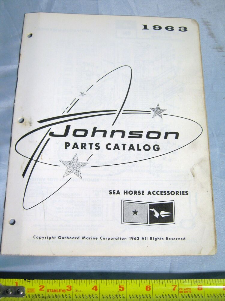 1963 johnson sea horse outboard boat motor accessories for Outboard motor parts online