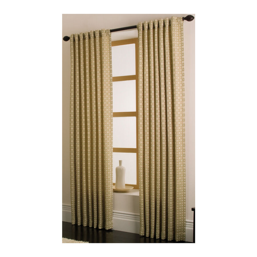 allen roth cornwall panel with back tabs drape curtain 88326