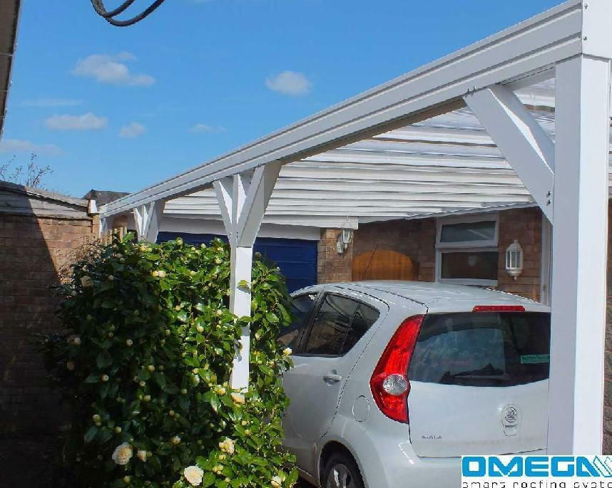 aluminium canopy carport patio cover with knee braces. Black Bedroom Furniture Sets. Home Design Ideas