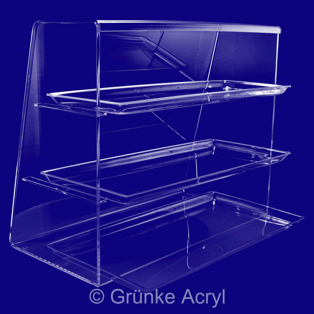 Acrylic Counter Top No 3 Serve Over Display Case Cabinet