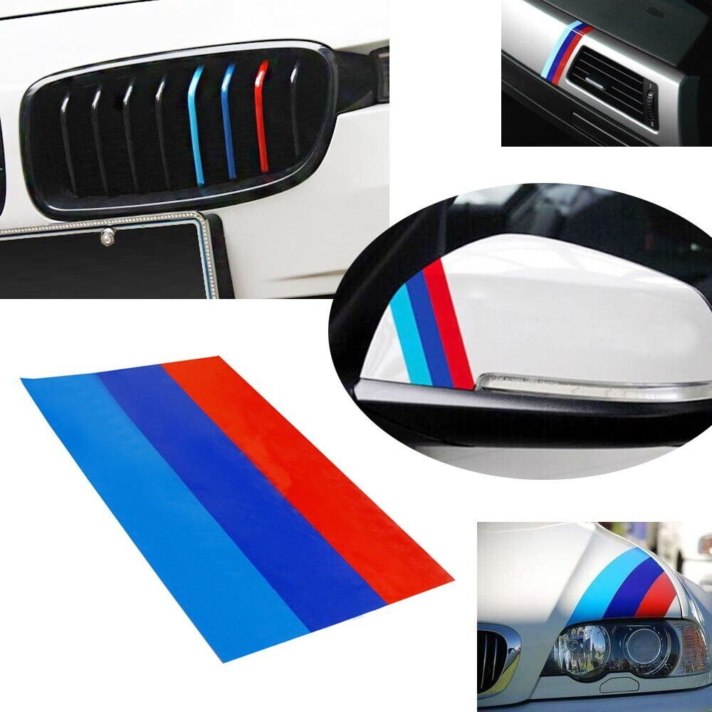"Bmw Exterior: (1) 10"" M-Colored Stripe Decal Sticker For BMW Exterior Or"
