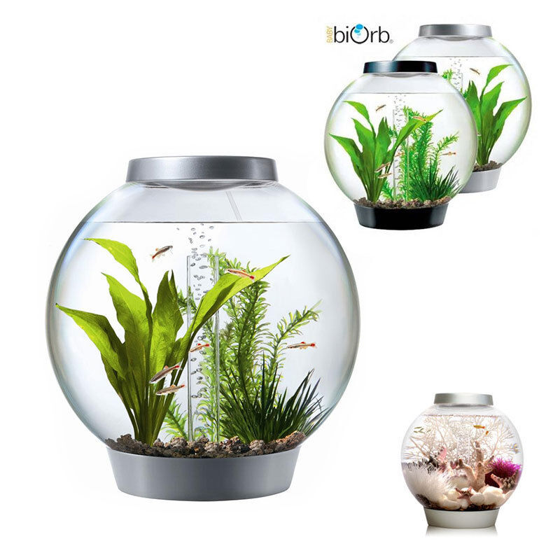 baby biorb standard komplett design kugelaquarium set 15l mit led licht ebay. Black Bedroom Furniture Sets. Home Design Ideas
