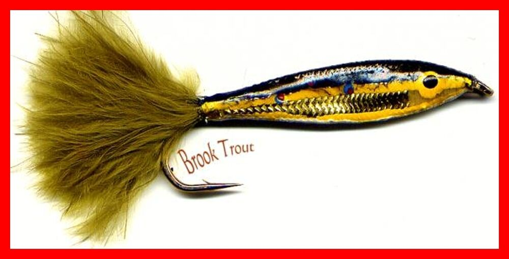 Janssen brook trout minnow twelve fly fishing flies for Fishing hook sizes for trout