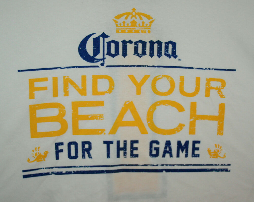 Corona Extra / Light Find Your Beach #1 Beer White 2 Sided ...