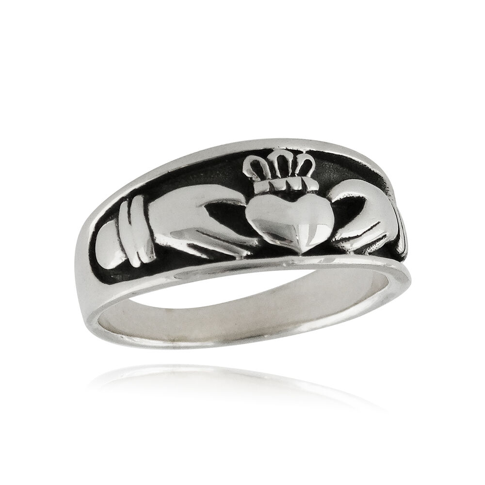 irish claddagh ring 925 sterling silver love loyalty. Black Bedroom Furniture Sets. Home Design Ideas