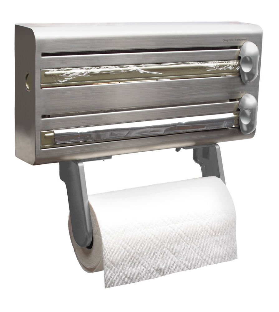 Kitchen Foil Cling Film Wall Holder And Dispenser