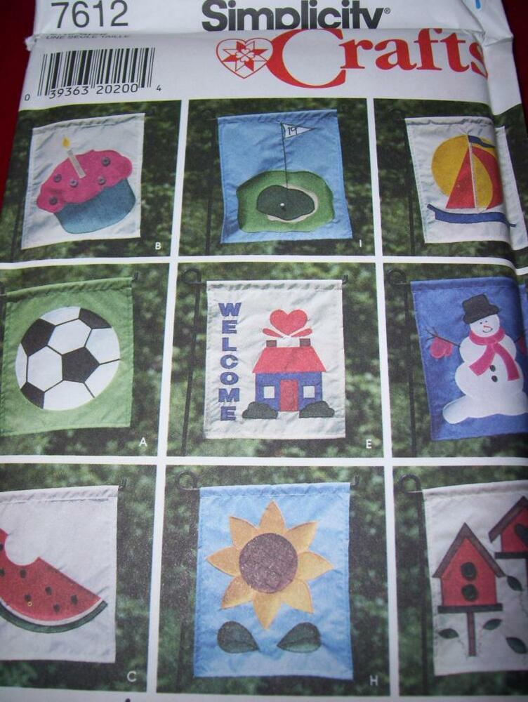 """SIMPLICITY #7612-CUTE 9 STYLE ~ 13"""" x 11"""" APPLIQUED"""